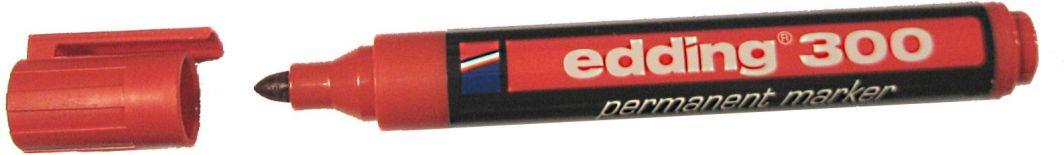 Edding Marker permanentny 300 końcówka okrągła czerwony (EG1001) 1