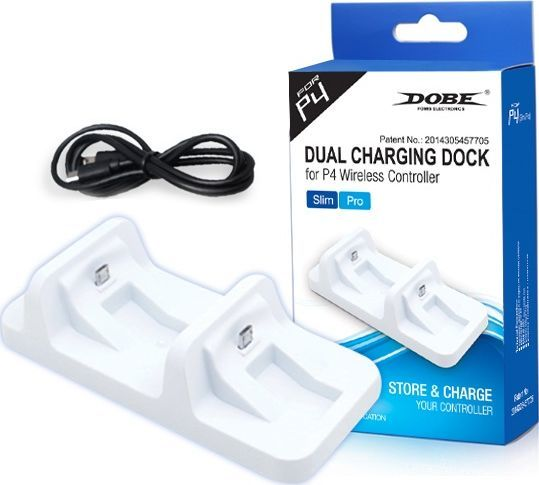 DOBE Stojak Dual Charge Controller PS4 - PlayStation 4 - biały 1