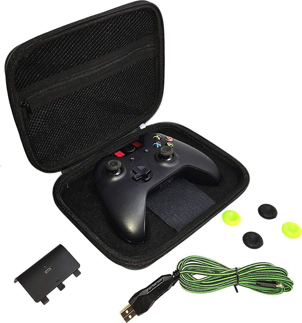 DragonWar Zestaw akcesoriów DragonWar Gamer Kit XBOX One - bateria, kabel, torba, thumbgrips 1