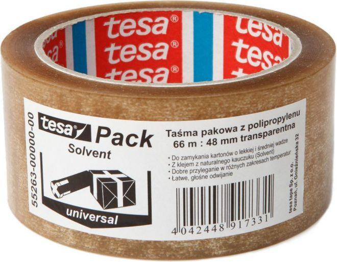 Tesa Taśma pakowa tesa® SOLVENT 66m x 48mm, przezroczysta (55263-00000-00) 1