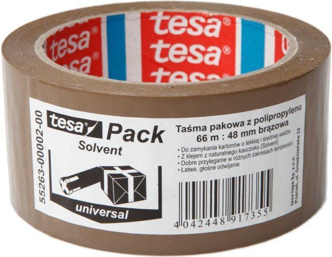 Tesa Taśma pakowa tesa® SOLVENT 66m x 48mm, brązowa (55263-00002-00) 1