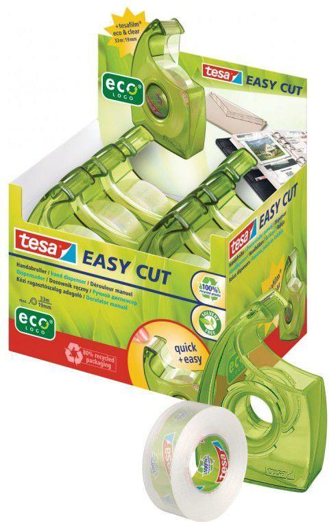 Tesa Taśma biurowa tesa® eco&clear 33m x 19mm + dyspenser Easy Cut (57069-00000-00) 1