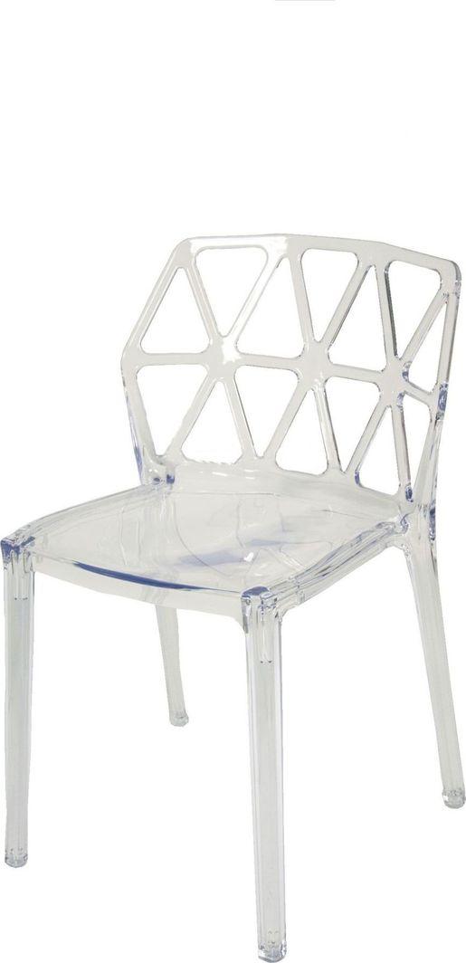 Artdeco Krzesło Designerskie AGGE transparentne bezbarwne 1