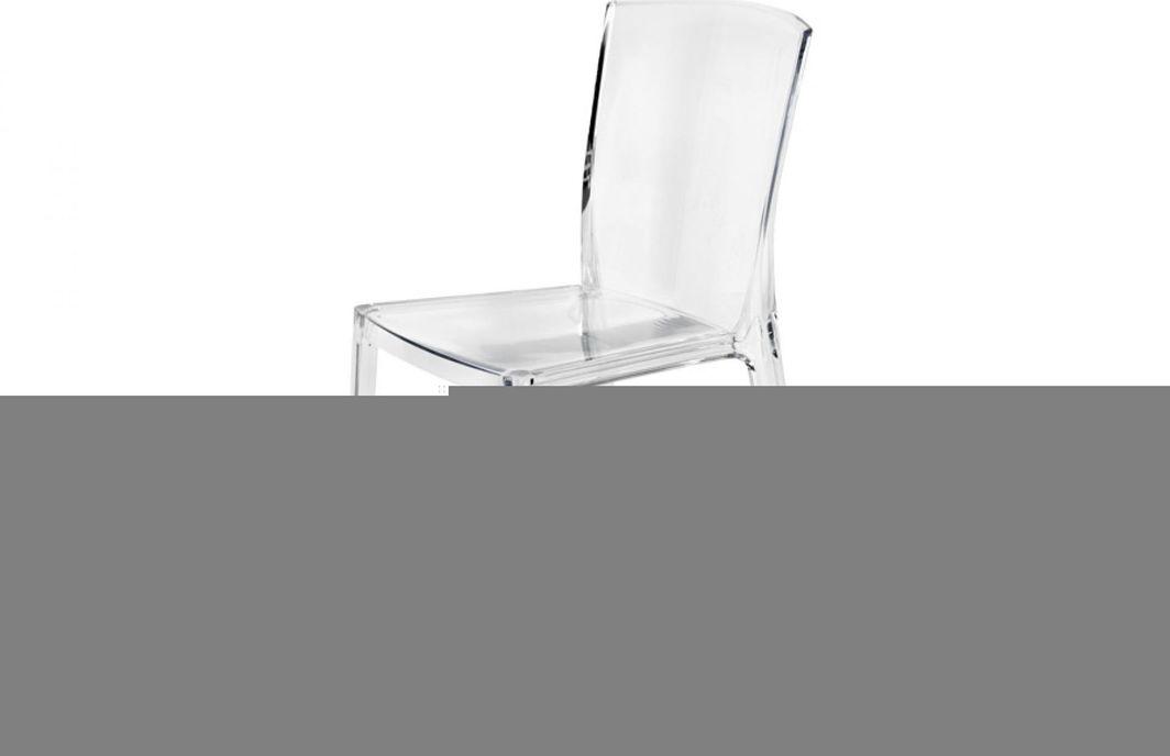 Artdeco Krzesło Designerskie KING transparentne bezbarwne 1