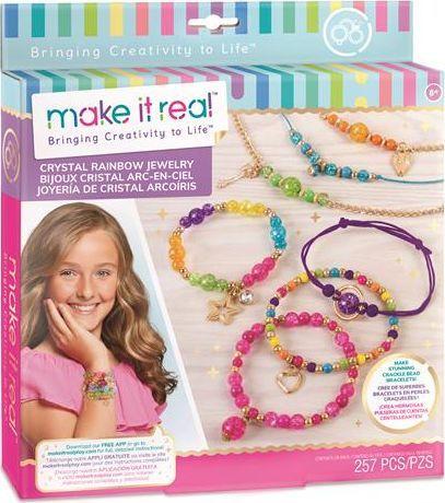 Make it real Make it real - Zestaw do tworzenia bransoletek - Tęczowe kryształy 1