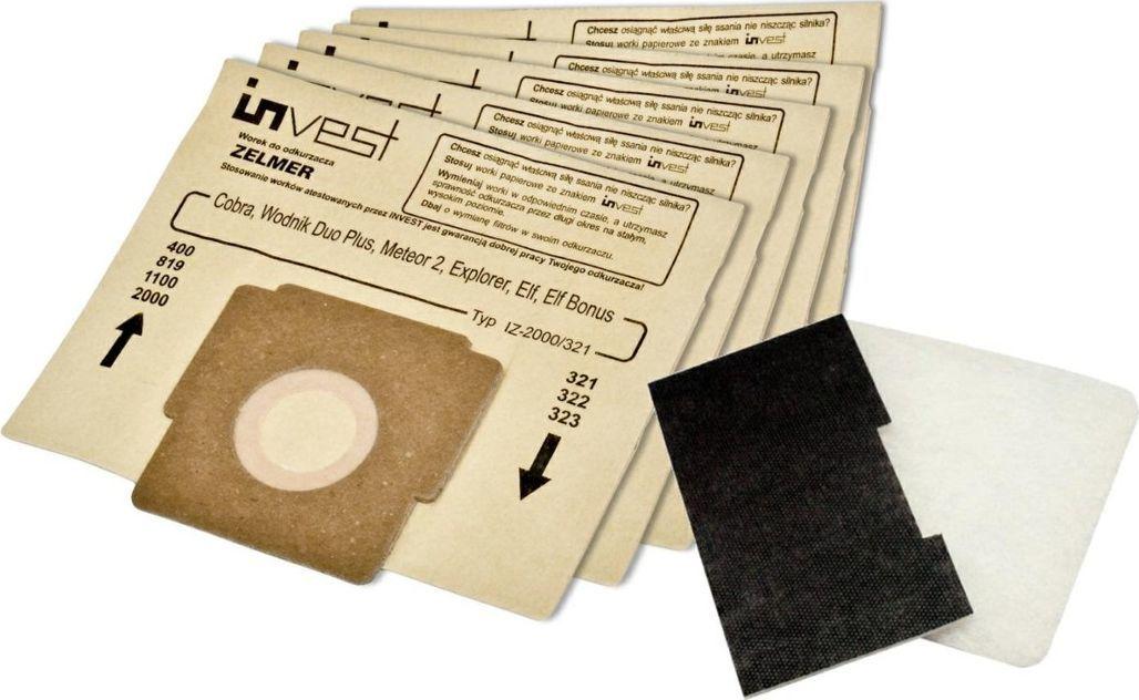 Worek do odkurzacza Invest Invest worek papierowy 323.0057 z filtrami 1