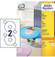 Avery Zweckform Etykiety na CD 117mm 100 arkuszy (L6043-100) 1