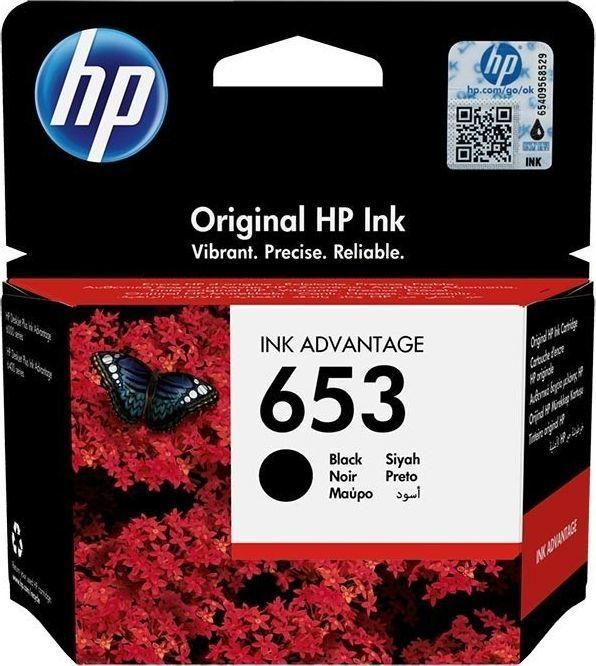 HP Tusz HP 653   360 str.   Black 1