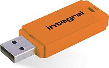 Pendrive Integral Integral pamięć USB Neon 64GB USB 2.0 orange 1