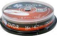 HP DVD-R 4.7 GB 16x 10 sztuk (HP1610-) 1