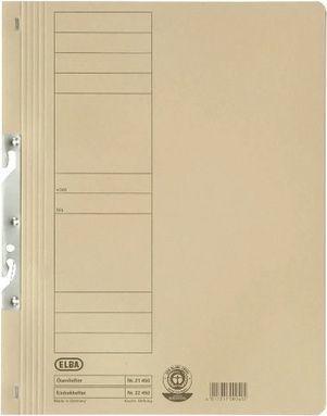 Elba Skoroszyt kartonowy hakowy, Pełny, A4, kremowy (EB5296) 1