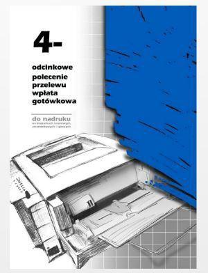 Michalczyk & Prokop Polecenie przelewu 4 odcinkowe do nadruku A4 100 kartek (F-112-2) 1
