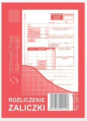 Michalczyk & Prokop Rozliczenie zaliczki A6 40 kartek (409-5) 1