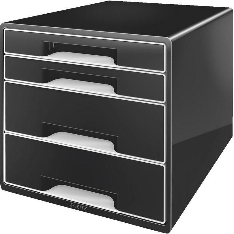 Leitz Pojemnik BLACK&WHITE 4 szuflady czarny (52520095) 1
