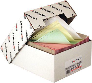 """Emerson Papier do drukarki igłowej 2-warstwowy 240x12"""" 60g Mix kolorów 900 arkuszy 1"""