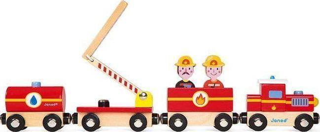 Janod Pociąg drewniany Straż pożarna Story  1