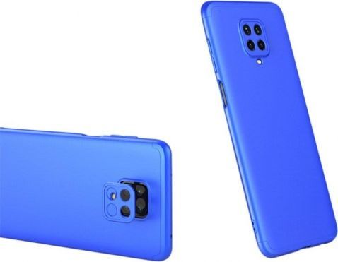 360 case GKK 360 3w1 Etui Xiaomi Redmi Note 9 niebieskie 1