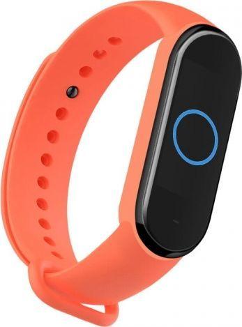 Hurtel Opaska Xiaomi Mi Band 5 Silikonowa Pomarańczowa 1