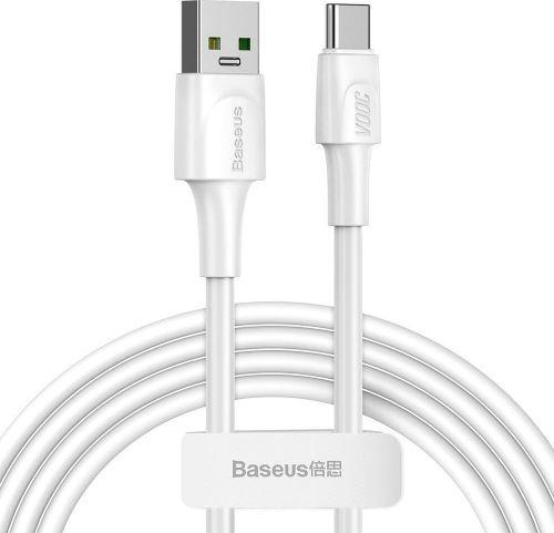 Kabel USB Baseus Baseus kabel White Series USB-C VOOC QC 3.0 5A 2m CATSW-G02 1