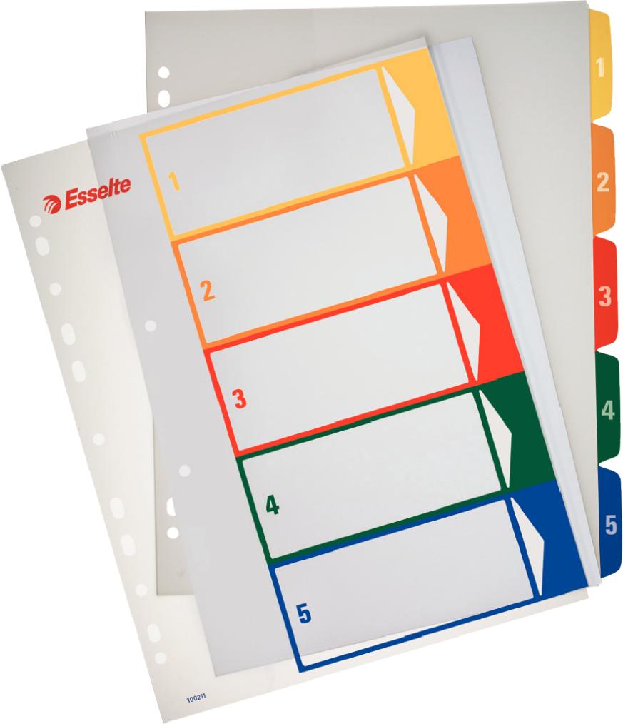 Esselte Przekładki kartonowe Maxi do nadruku A4 1-5 (100211) 1