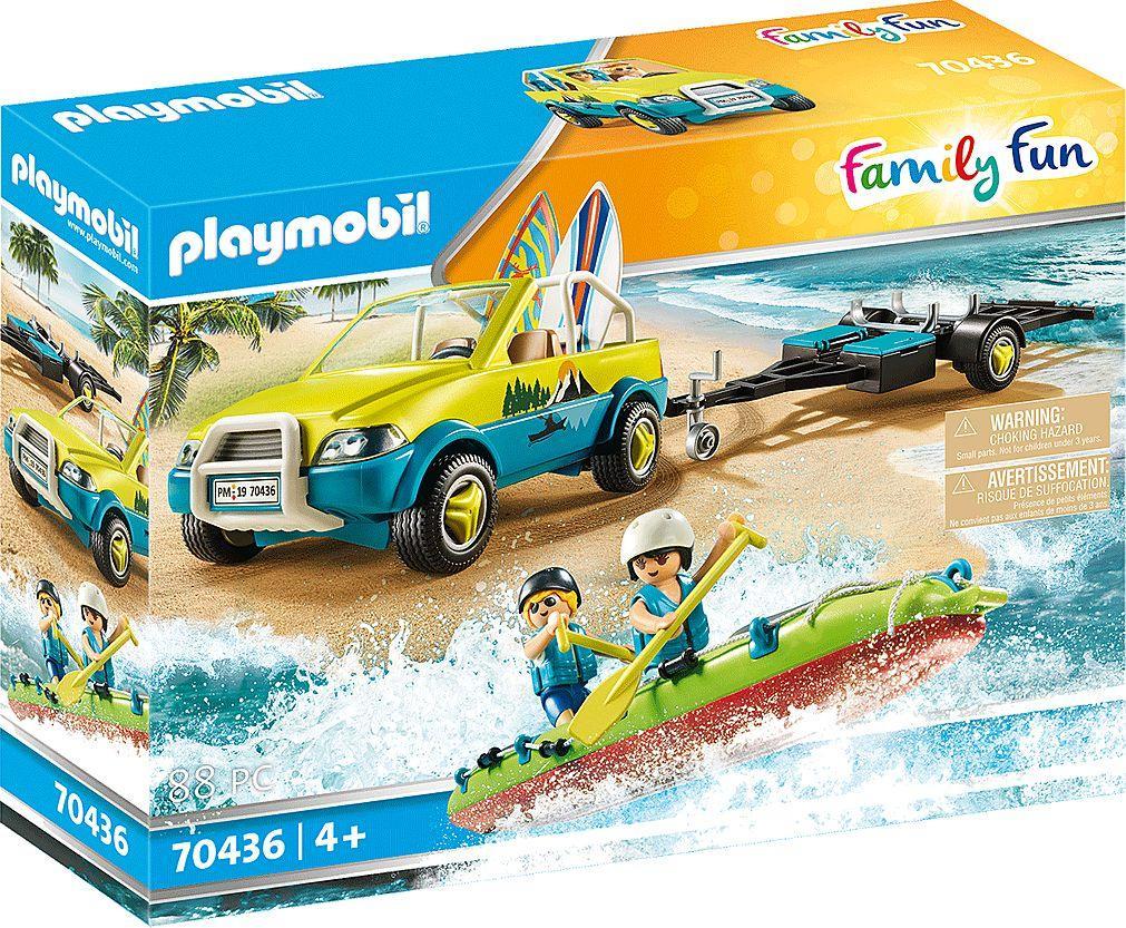 Playmobil Auto z przyczepką na kanu (70436) 1