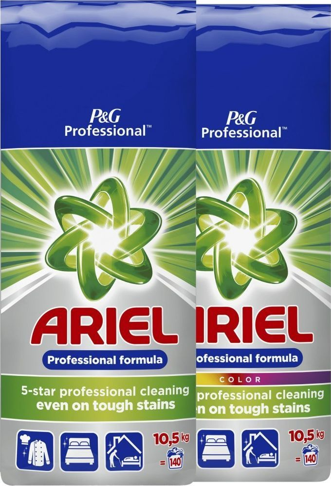 Ariel Zestaw ARIEL Proszek do prania Regular 10,5kg + ARIEL Proszek do prania Kolor 10,5kg 1
