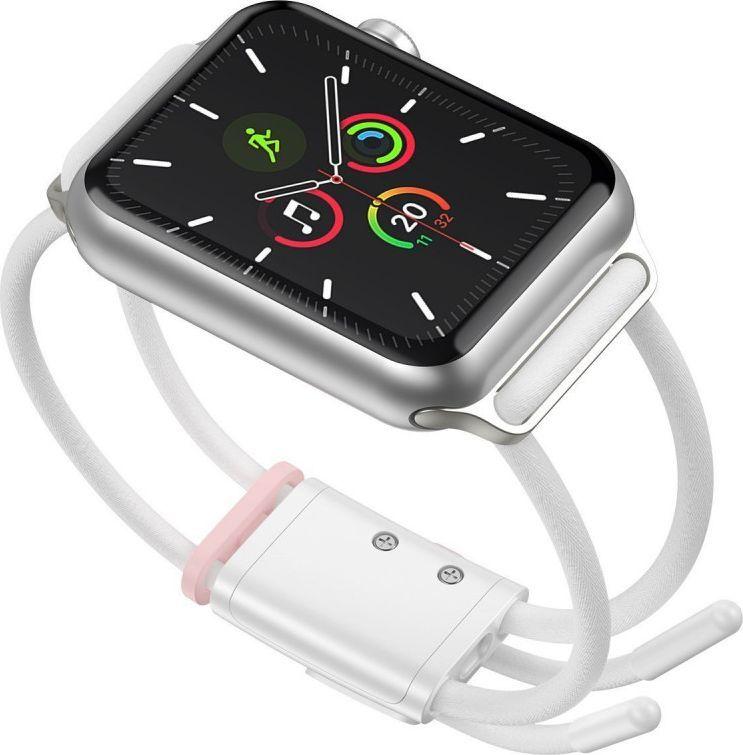 Baseus Pasek Baseus Let's Go Apple Watch 3/4/5 42mm/44mm (biało-różowy) 1