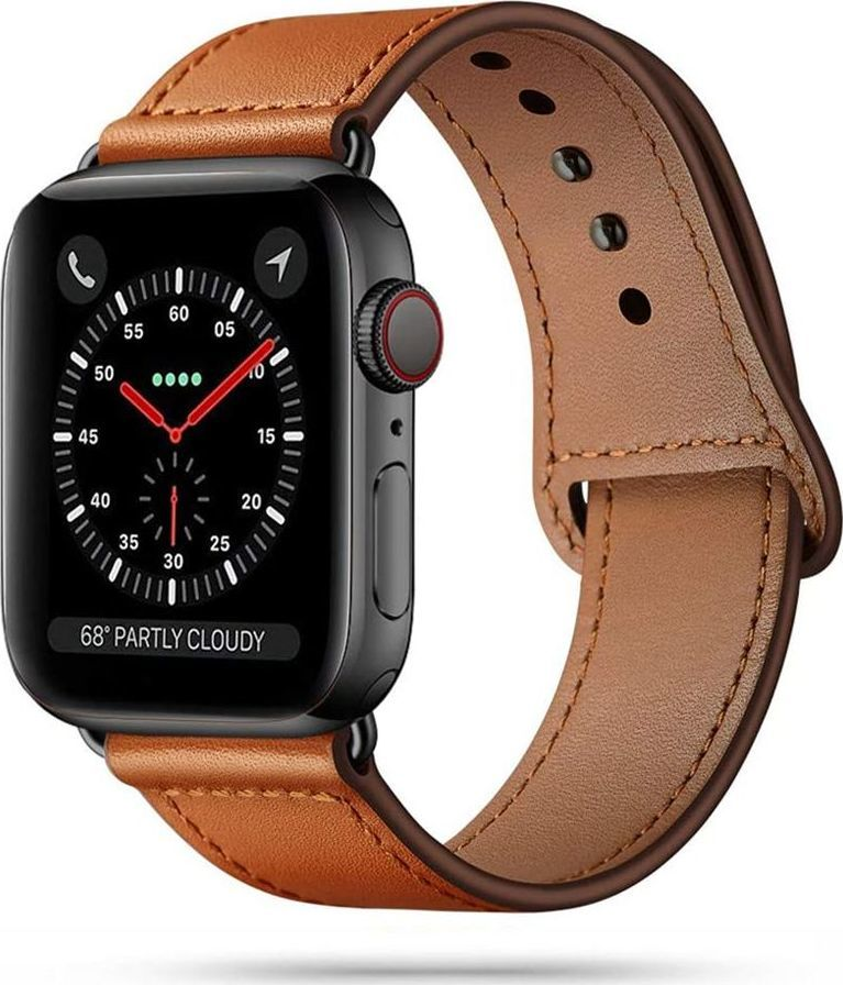 Tech-Protect TECH-PROTECT LEATHERFIT APPLE WATCH 1/2/3/4/5/6 (42/44MM) BROWN 1