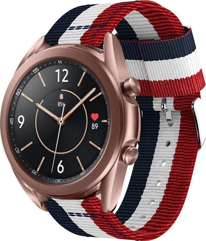 Tech-Protect TECH-PROTECT WELLING SAMSUNG GALAXY WATCH 3 45MM NAVY/RED 1