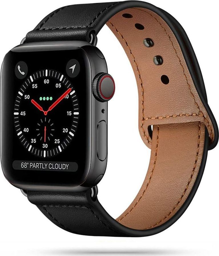 Tech-Protect TECH-PROTECT LEATHERFIT APPLE WATCH 1/2/3/4/5/6 (42/44MM) BLACK 1