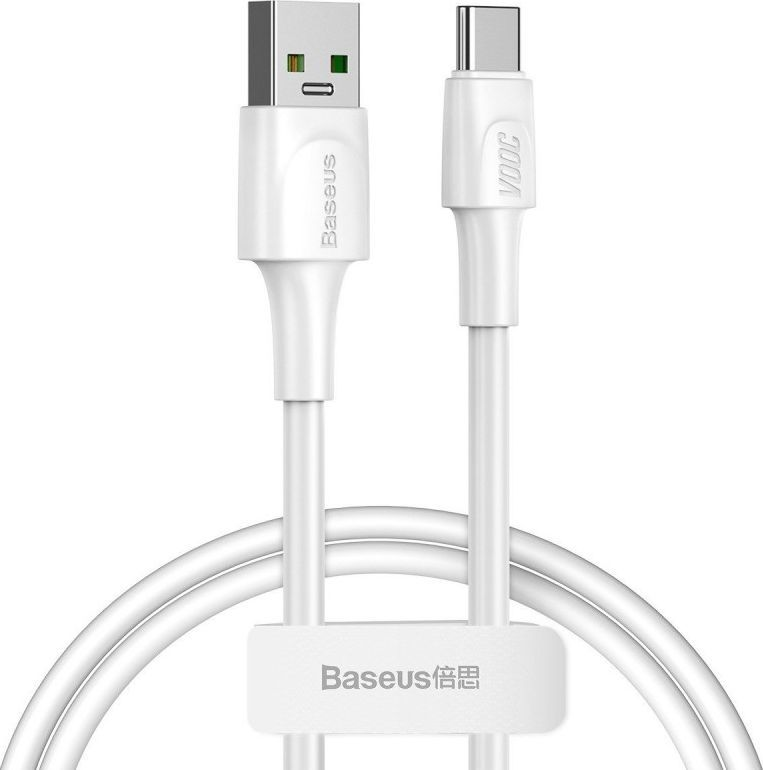 Kabel USB Baseus Kabel USB-C Baseus White Series, VOOC, QC, 5A, 1m (biały) 1
