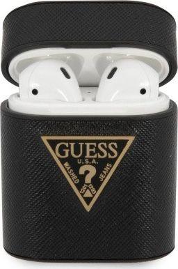Guess Etui Guess GUACA2VSATMLBK Apple AirPods cover czarny/black Saffiano 1