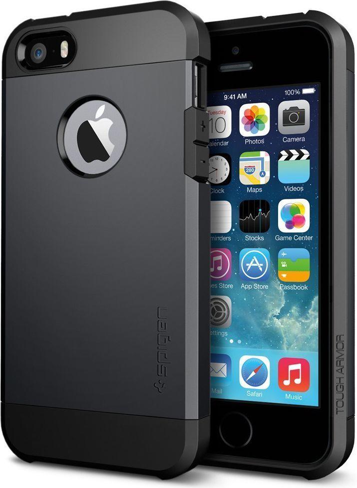Spigen Etui Tough Armor Black do iPhone 5/5S (tough armor black 5) 1
