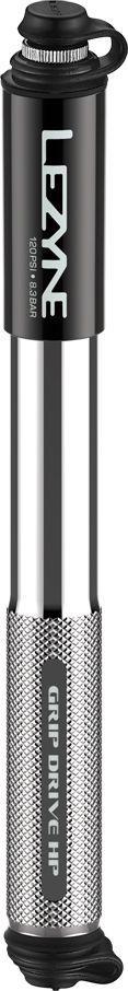 Lezyne Pompka ręczna LEZYNE GRIP DRIVE HP M ABS FLEX PRESTA/SCHREDER 120psi dł.długa 230mm srebrna (NEW) 1