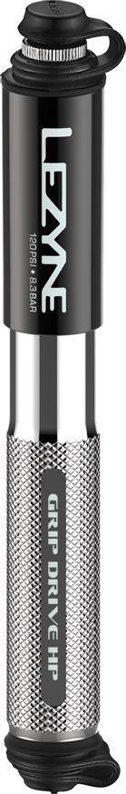 Lezyne Pompka ręczna LEZYNE GRIP DRIVE HP S ABS FLEX PRESTA/SCHREDER 120psi dł.krótka 185mm srebrna (NEW) 1