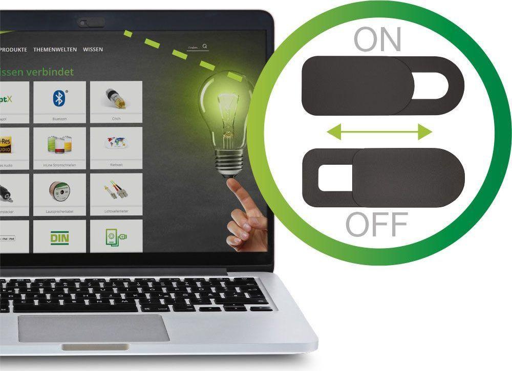 InLine Zakrywacz InLine do kamery internetowej w laptopie - czarny - 2 sztuki 1