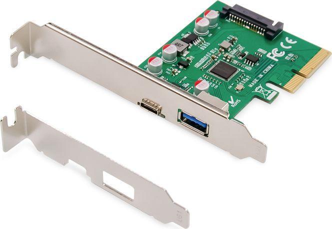 Kontroler Digitus PCIe USB Type-C + USB Type-A do 10 GB/s (DS-30225) 1