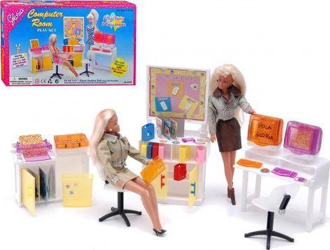 EduCORE Gabinet biuro OFFICE pokój komputerowy meble dla Barbie 1