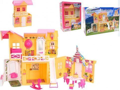 EduCORE DOMEK dla lalki 3 pokoje plac zabaw meble dla Barbie 1
