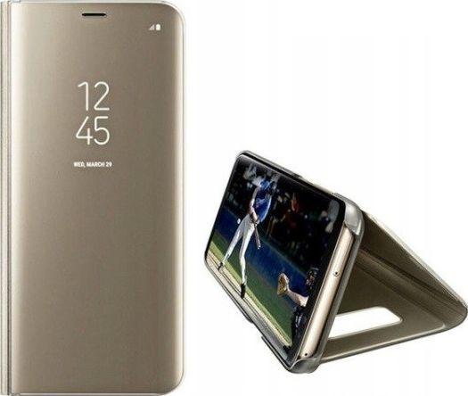 Etui Clear View Samsung A21 A215 złoty/gold 1