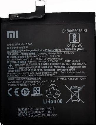 Bateria Samsung Xiaomi bateria BP40 Redmi K20 Pro bulk 3900mAh 1
