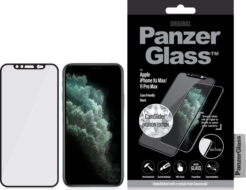 PanzerGlass Szkło hartowane do  iPhone Xs Max / 11 Pro Max - CamSlider z kryształkiem Swarovski (2682) 1
