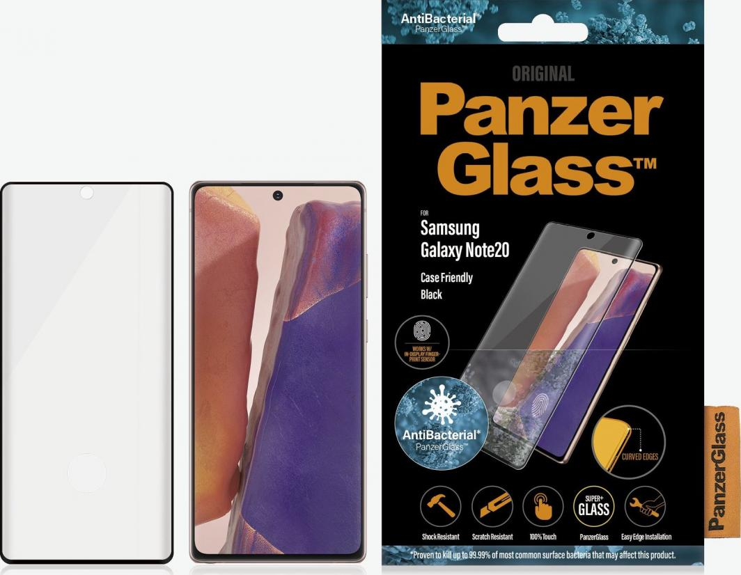 PanzerGlass Szkło hartowane do Samsung Galaxy Note20 Case Friendly Black (7236) 1