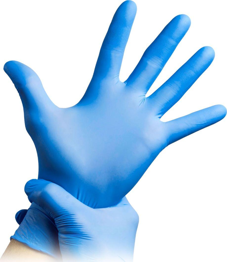 Xqisit Rękawice nitrylowe XL (50 par) Niebieskie 1