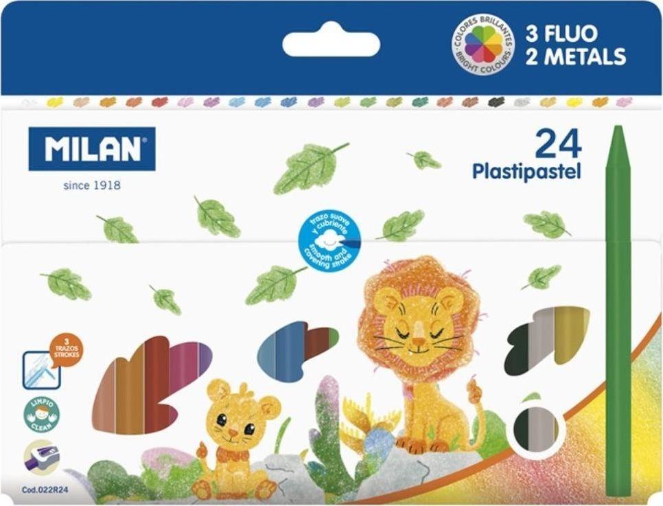 Milan Kredki świecowe Plastipastel 24 kolory (381917) 1