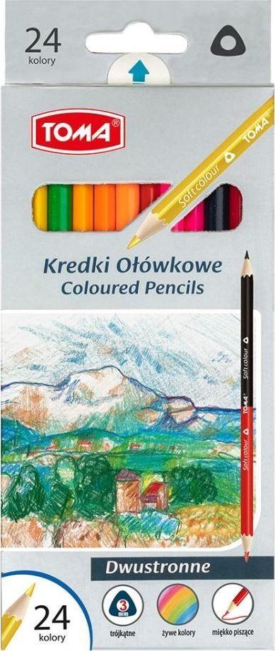 Toma Kredki ołówkowe dwustronne 24 kolory (382669) 1