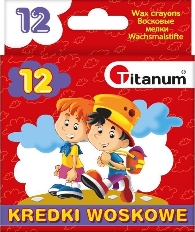 Titanum Kredki świecowe 12 kolorów (385032) 1
