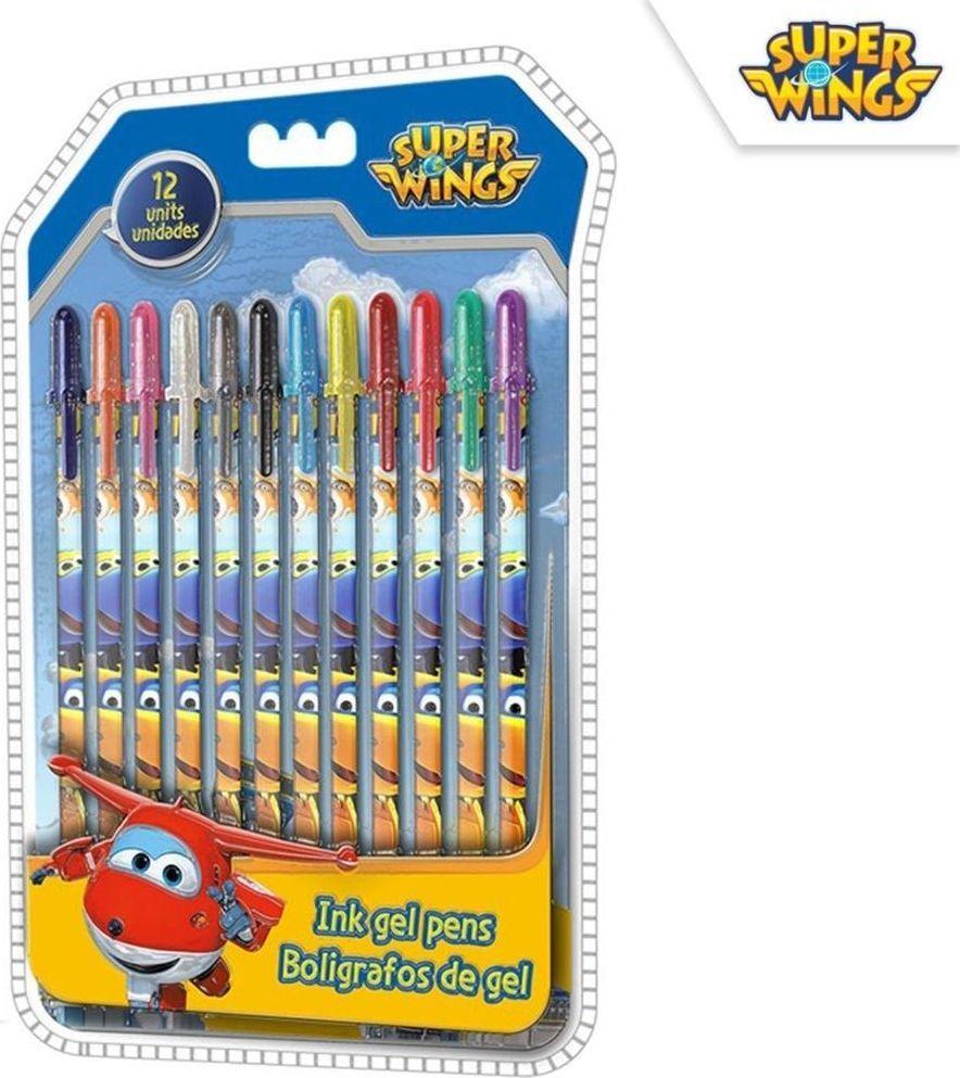 Cass film Zestaw długopisów żelowych 12 kol. Super Wings 1