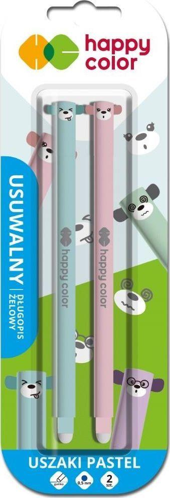 Happy Color Długopis usuwalny Uszaki Pastel 0,5mm nieb. 2szt 1