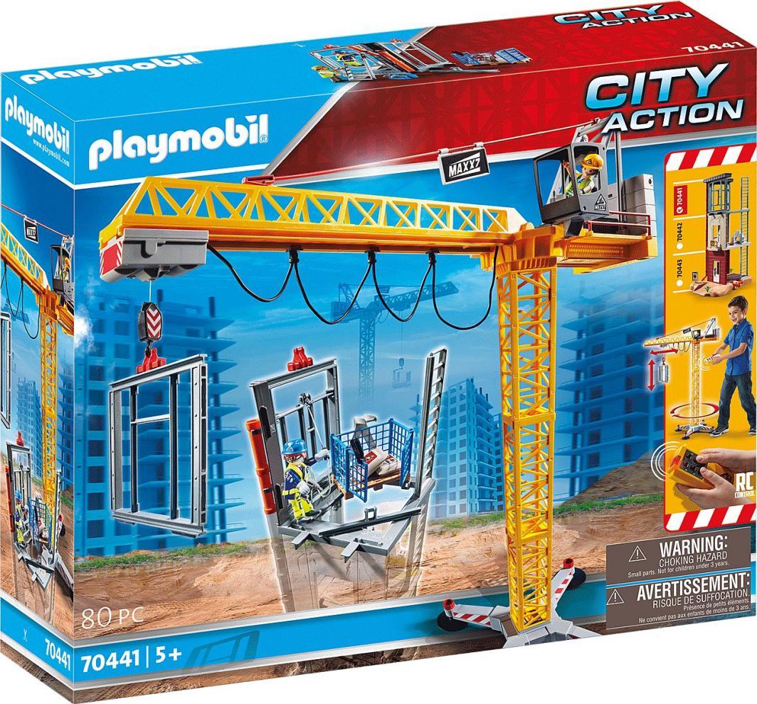 Playmobil Zdalnie sterowany żuraw z elementem konstrukcyjnym (70441) 1